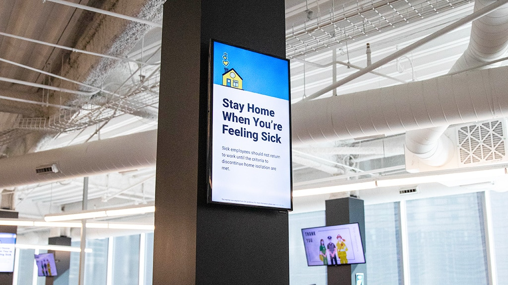 digital signage for employee communications